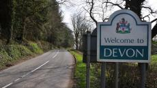 An image of a sign declaring 'Welcome to Devon'