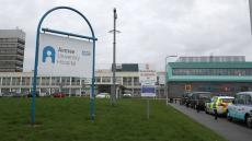 An image of the exterior of Aintree University Hospital