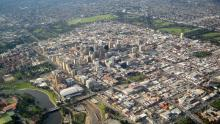 An image of an aerial view of the city of Adelaide in South Australia