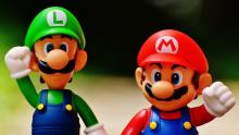 An image of figures of the Super Mario brothers - Mario and Luigi