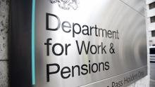 DWP - Department for Work and Pensions sign