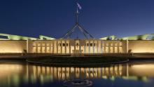 An image of the Australian parliament building in Canberra