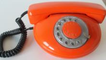 An image of an Orange landline phone handset
