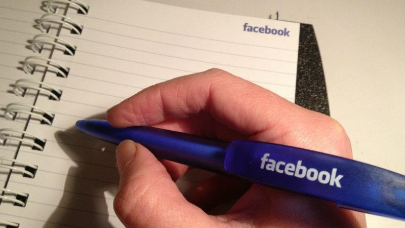 Facebook pen and paper