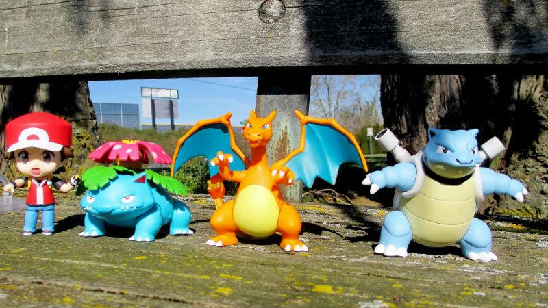 Pokemon on a bench
