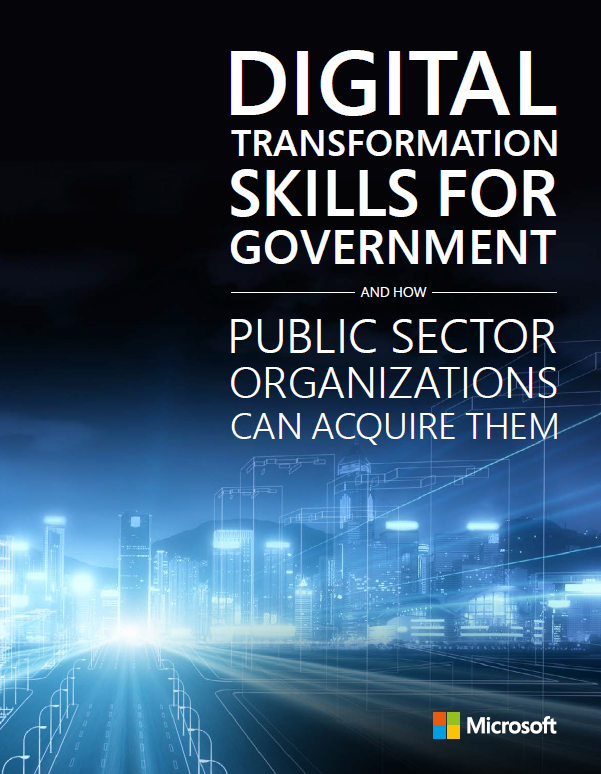 A picture of the Digital Transformation Skills for Government whitepaper