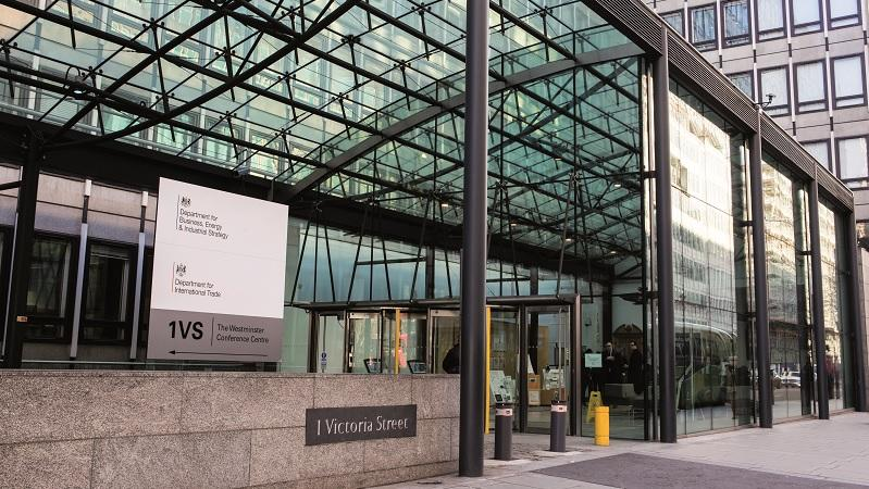 Exterior of the Department for Business, Energy and Industrial Strategy and the Department for International Trade