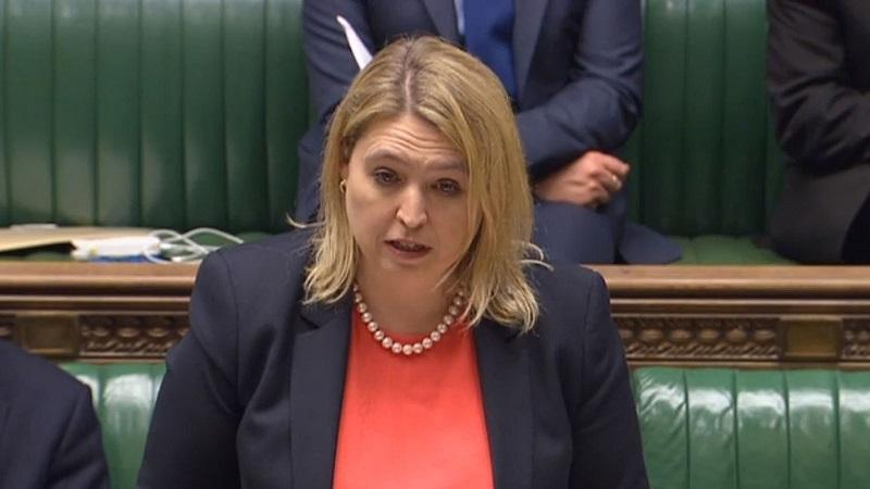 A picture of culture secretary Karen Bradley speaking in the House of Commons