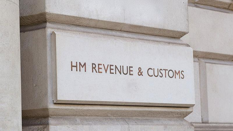 The HM Revenue Customs sign outside their 100 Parliament St office