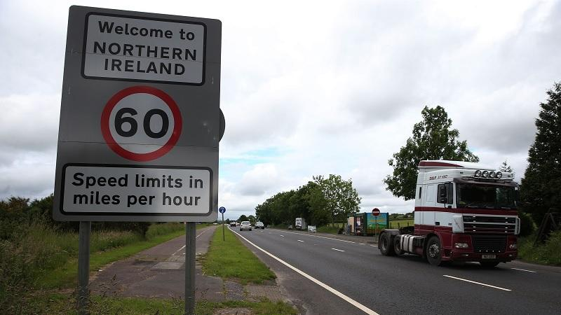 Road sign in Northern Ireland