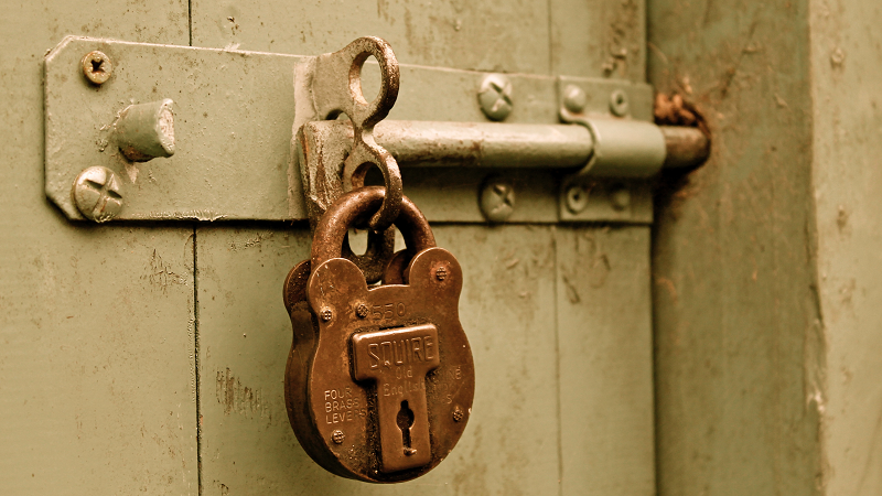 Image of a Padlocked and bolted door