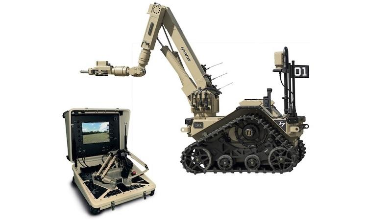 An image of Harris T7 bomb disposal robots