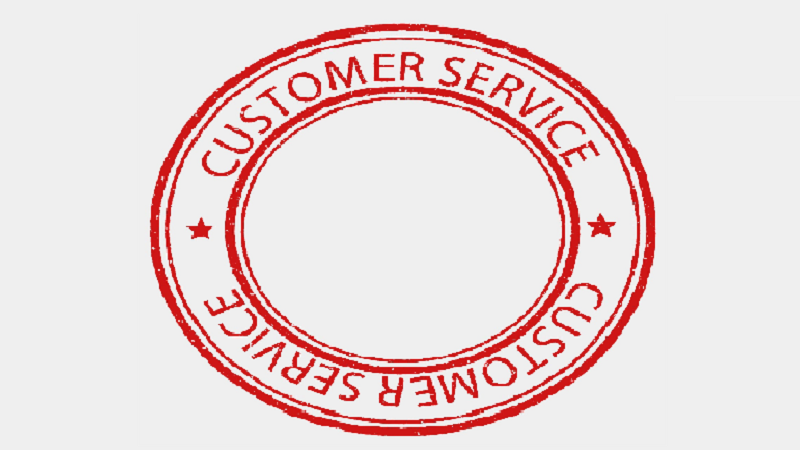 Image of a customer service stamp