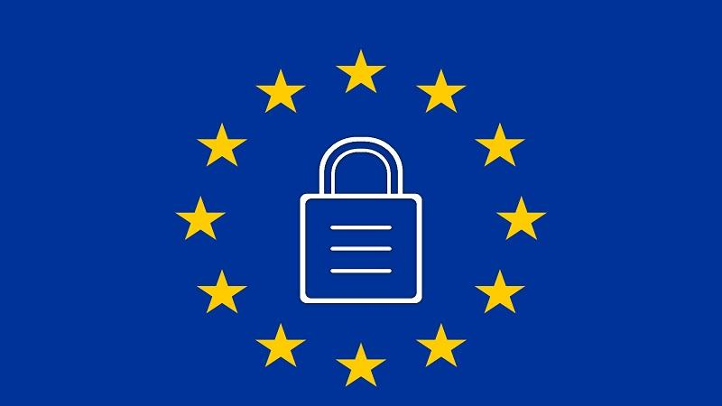 Image of EU flag with padlock in the middle