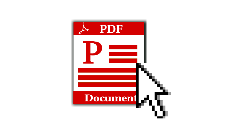 Image of Cursor hovering over PDF icon