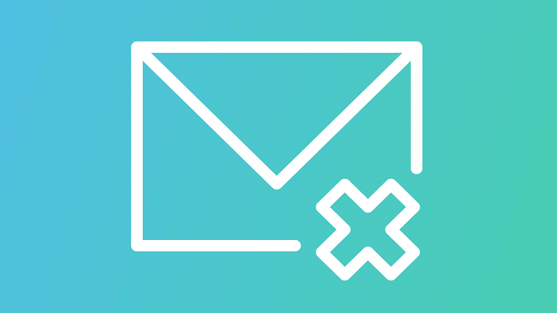 Image of an email delete icon