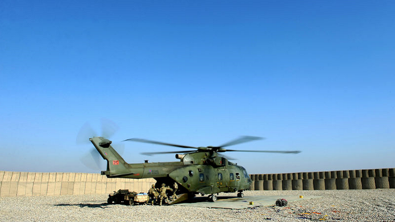 Image of a military helicopter