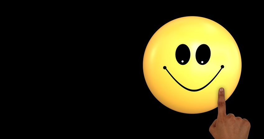 Smiley on black background