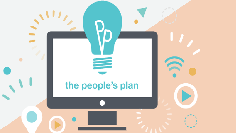 Screengrab from the People's plan homepage