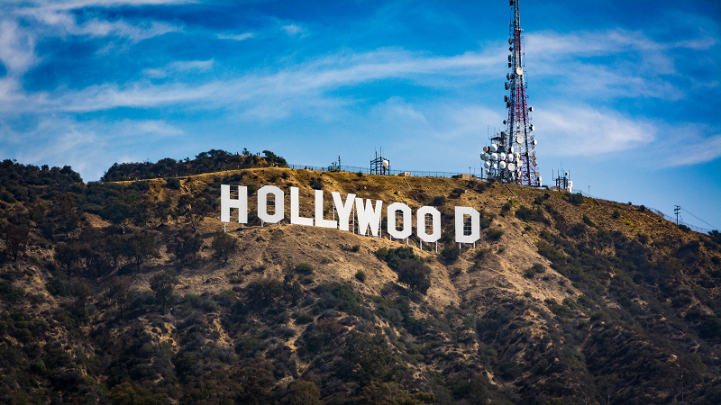 A picture of the Hollywood sign