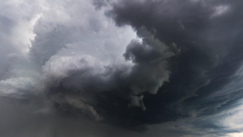 An image of gathering storm clouds