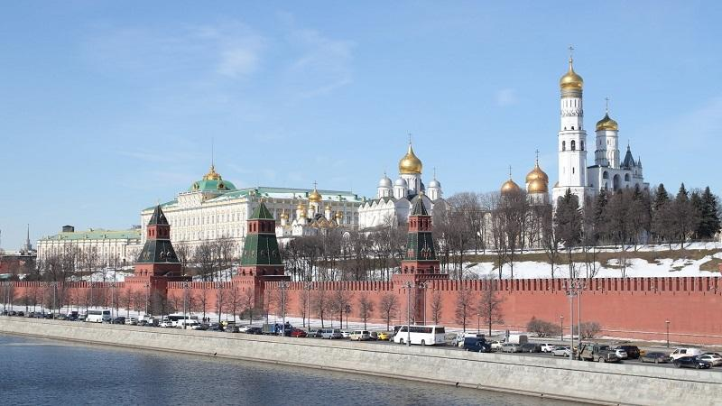 An exterior image of the Kremlin in Moscow