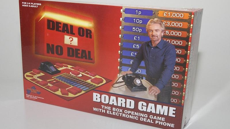 An image of the 'Deal or No Deal?' board game in its box