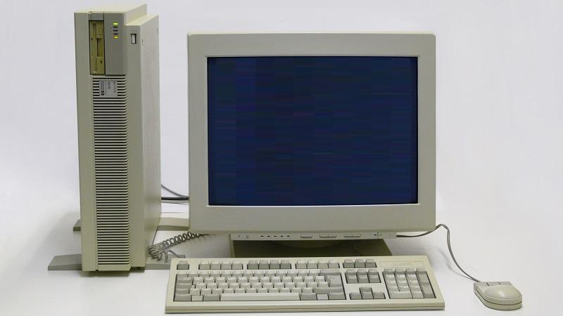 An image of an HP workstation personal computer from the 1990s