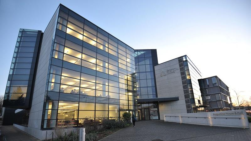 An image of the exterior of Augustine House at Canterbury Christ Church University