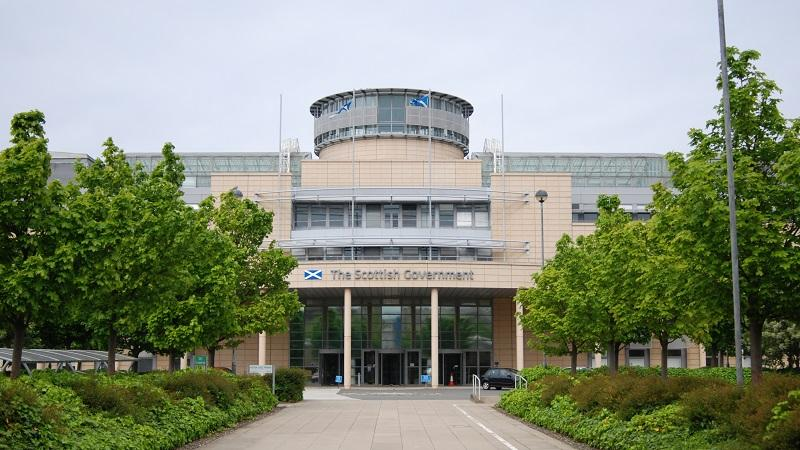An image of the exterior of the Scottish Government headquarters