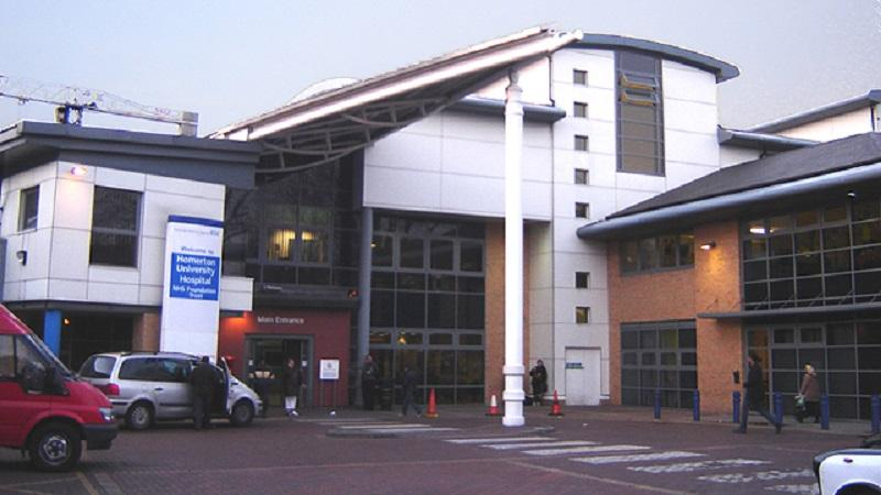An image of the exterior of Homerton hospital in Hackney