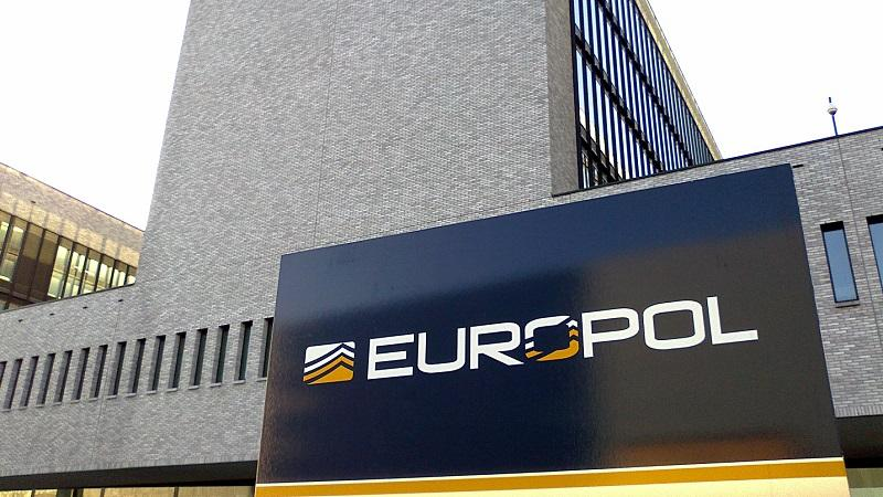 An image of the exterior of the headquarters of Europol in The Hague