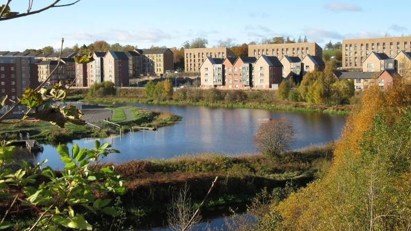 An image of the Forth and Clyde Canal Glasgow