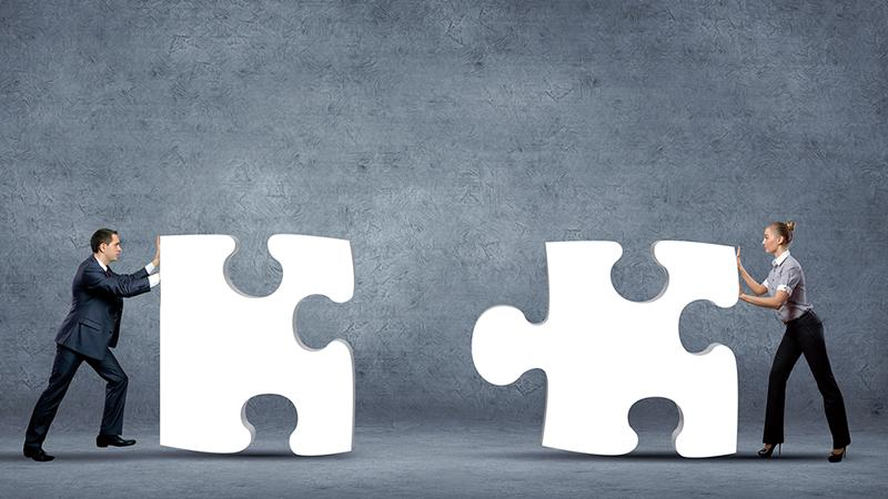 Fitting together giant jigsaw pieces