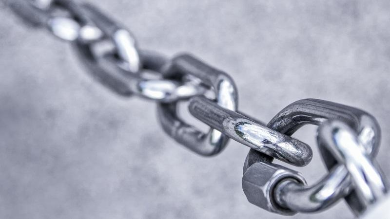 An image of a stainless steel chain