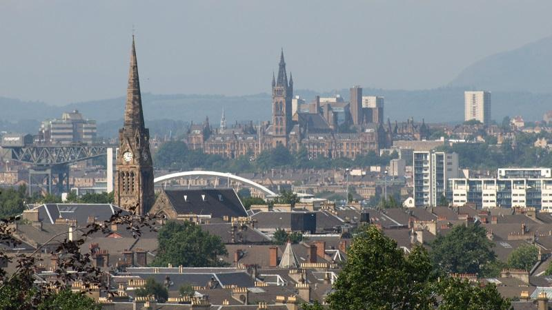 A view of Glasgow as seen from the city's Queens Park