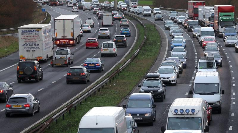 An image of cars driving on a busy stretch of the M6 in Cheshire