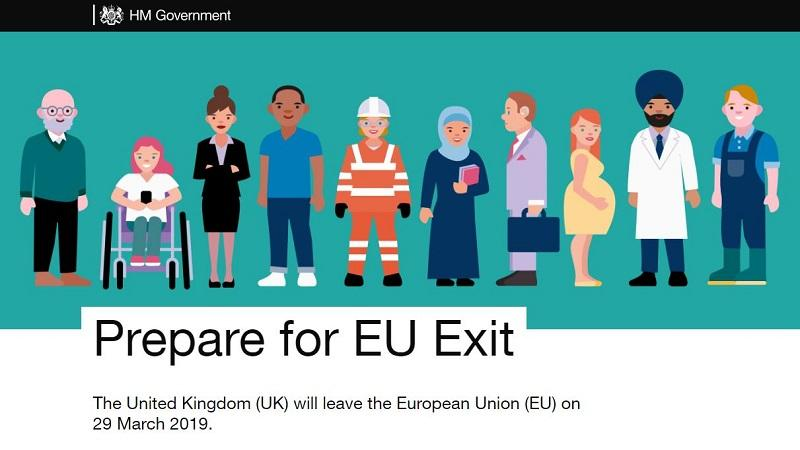 An image of the homepage of gov.uk/exit - the government website for no-deal Brexit advice