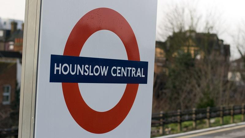 An image of a sign at Hounslow Central underground station