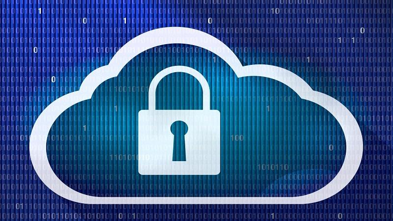 An illustration of a cloud with a padlock inside