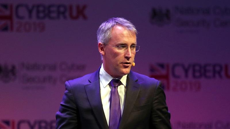 An image of Ciaran Martin, CEO of the National Cyber Security Centre, onstage at the CyberUK 2019 event