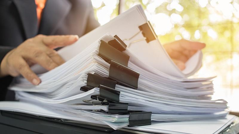 Stack of contracts