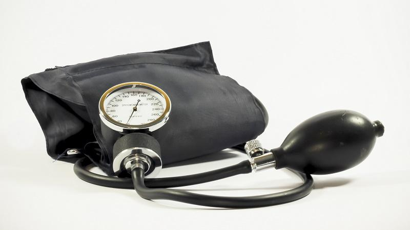 An image of an old-fashioned blood pressure cuff