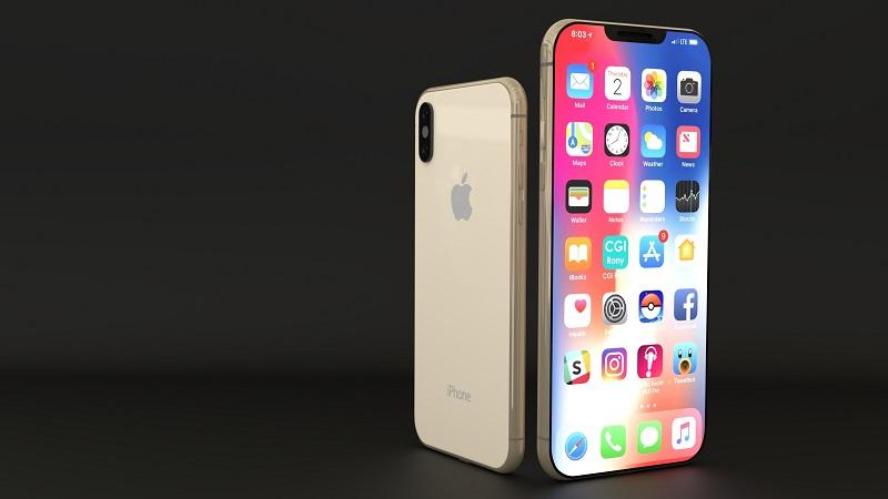 An image of two iPhone XS devices stood side by side - one facing forward and one facing backward