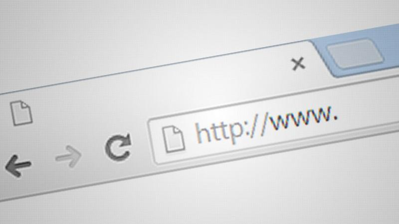 A close-up image of the beginning of a URL typed in a website address bar