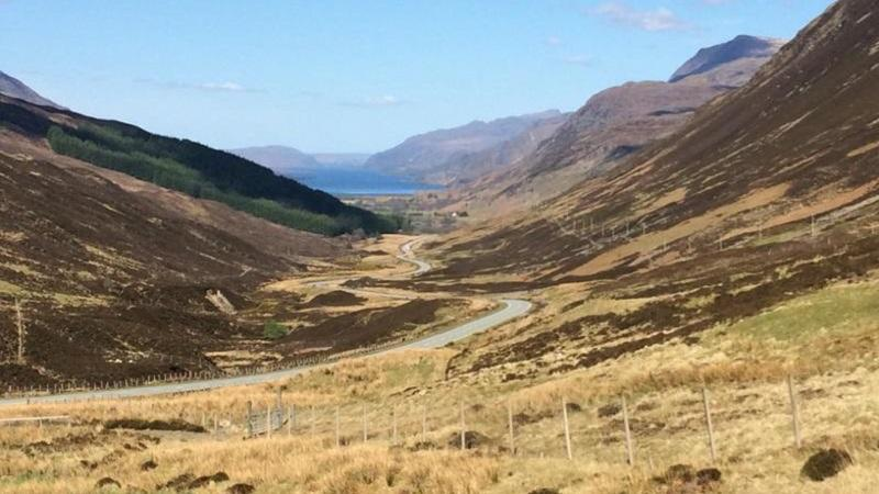 The road to Gairloch in the Scottish Highlands