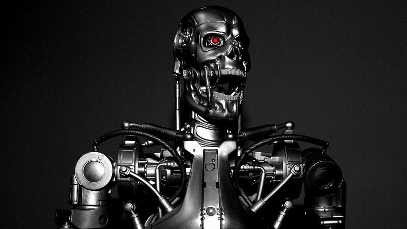 An image of a Terminator robot from the film franchise
