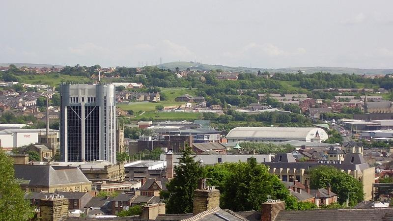 A townscape of Blackburn in Lancashire