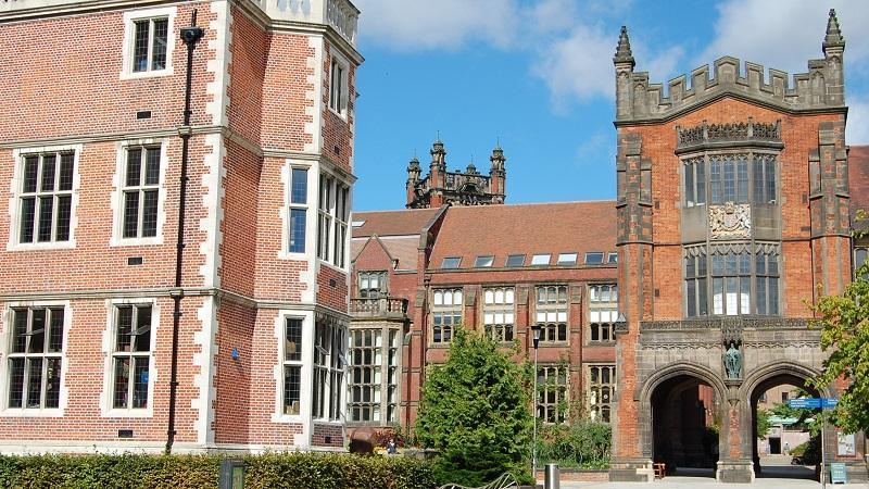 An image of the main entrance of Newcastle University campus