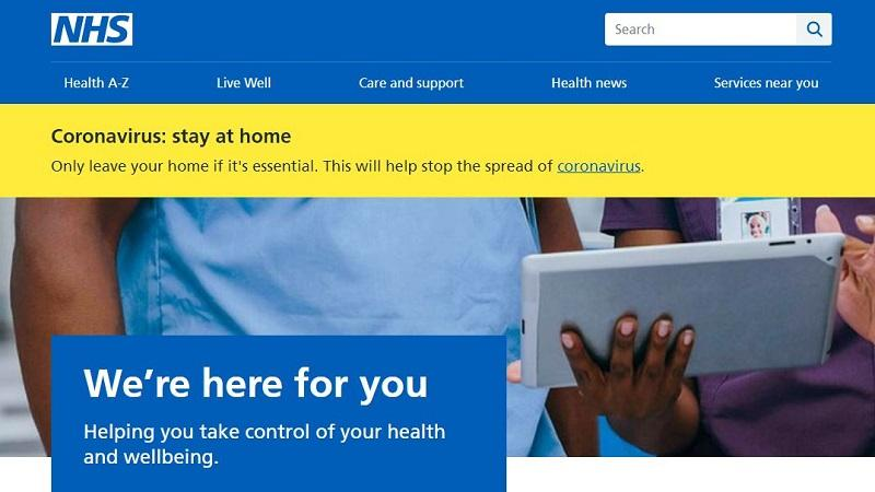 Screengrab from nhs.uk website